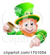 Leprechaun St Patricks Day Cartoon Character Sign