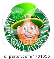 Leprechaun St Patricks Day Cartoon Design Element