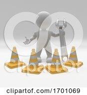 Poster, Art Print Of 3d Morph Man With Hazard Cones