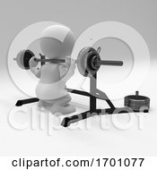 Poster, Art Print Of 3d Morph Man Exercising With Gym Weights