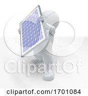 3D Morph Man With Solar Panel