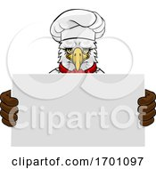 Eagle Chef Cartoon Restaurant Mascot Sign