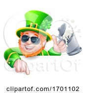 Leprechaun Cool St Patricks Day Cartoon Sign