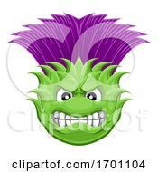 Thistle Plant Flower Mean Sports Cartoon Mascot