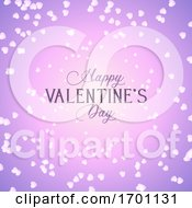 Poster, Art Print Of Valentines Day Background With Hearts Design