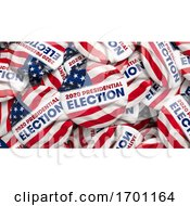 Poster, Art Print Of 2020 Presidential Election Buttons