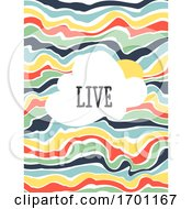 Vector Illustration Of Modern Dynamic Fluid Background Multicolored Banner Flyer Cover Design Template Or Social Media Story Wallpaper With Abstract Contrasting Liquid Stripes