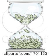 Hourglass With Money