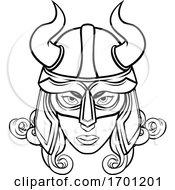 Viking Woman Warrior Mascot