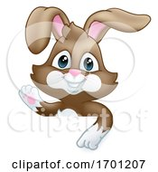 Poster, Art Print Of Easter Bunny Rabbit Cartoon Sign