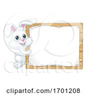 Poster, Art Print Of Easter Bunny Rabbit Sign Background Cartoon