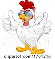 Chicken Rooster Cockerel Bird Sunglasses Cartoon