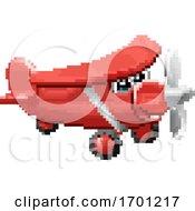 Airplane 8 Bit Pixel Game Art Cartoon Character