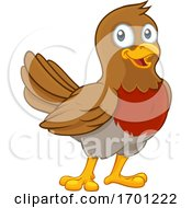 Robin Redbreast Cartoon Bird by AtStockIllustration