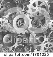 Gears And Cogs Seamless Machine Pattern