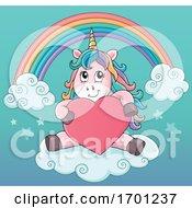 Poster, Art Print Of Valentine Unicorn