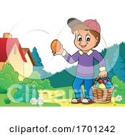 Boy Holding An Easter Egg