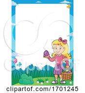 Poster, Art Print Of Girl Holding An Easter Egg
