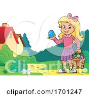 Girl Holding An Easter Egg