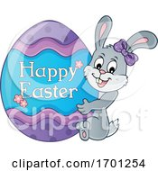 Poster, Art Print Of Easter Bunny And Egg
