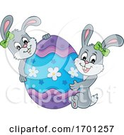 Easter Bunnies And Egg by visekart