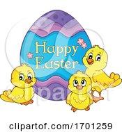 Poster, Art Print Of Easter Chicks And Egg