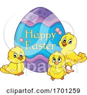 Easter Chicks And Egg
