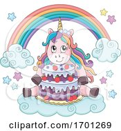 Birthday Unicorn And Rainbow