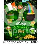 Leprechaun Beer Gold Irish Flag Patricks Day