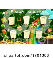 School Timetable Or Schedule On St Patrick Hats