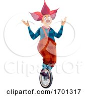 Clown On A Unicycle by Vector Tradition SM