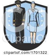 Pilot And Flight Attendant