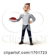 Poster, Art Print Of 3d Breton Man On A White Background