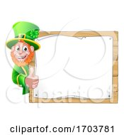 Leprechaun St Patricks Day Cartoon Sign Background