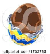 Poster, Art Print Of Easter Egg Chocolate Broken Open