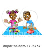 Poster, Art Print Of Children Playing With Toys