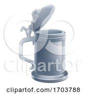 Beer Stein Pint Cartoon Tankard Mug Drink by AtStockIllustration