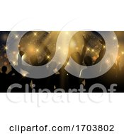 Party Banner Design With Stars And Spotlights