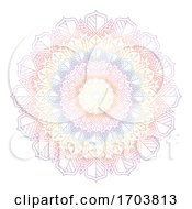 Rainbow Coloured Mandala Design
