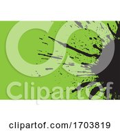 Poster, Art Print Of Green And Black Splat Background