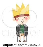 Poster, Art Print Of Kid Boy Class King Illustration