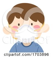 Kid Boy N95 Masks Protect Illustration