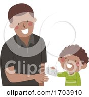 Kid Boy Give Teacher Letter Illustration