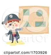 Kid Boy Pirate Shape Illustration