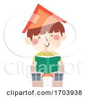 Kid Boy Homeschool Read Book Illustration