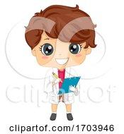 Kid Boy Crime Scene Investigator Illustration