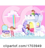 Stickman Kids Room Princess Theme Illustration
