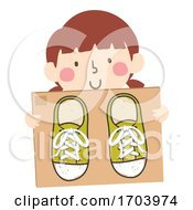 Kid Girl Shoe Lace Tying Practice Board Illustration
