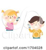 Kids Mobile Phone Call Illustration
