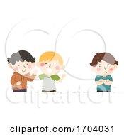 Kids Friends Jealous Illustration